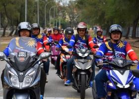 23 Kakitangan Sertai Konvoi Bermotosikal Merdeka Ride